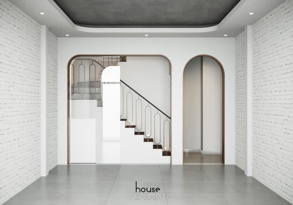 trang tri phong khach co cau thang - Housedesign