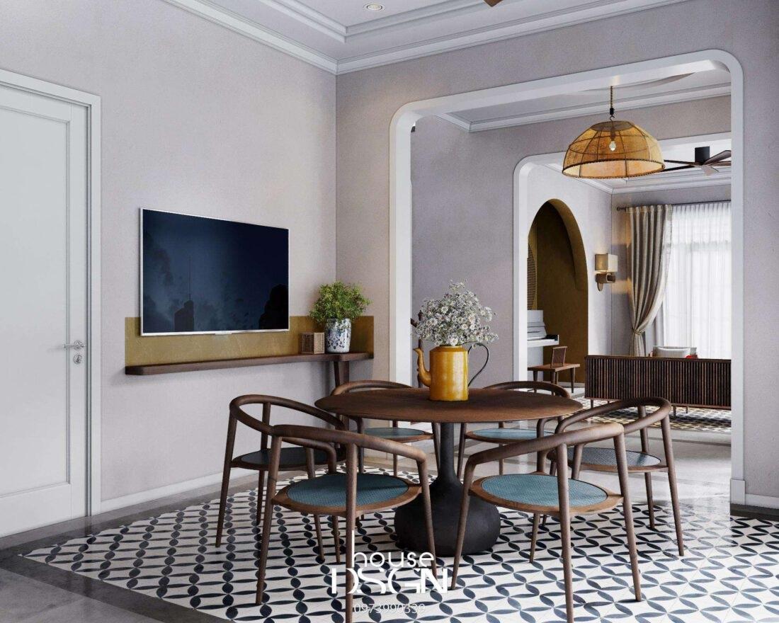 trang trí phòng khách tầng 1 - Housedesign