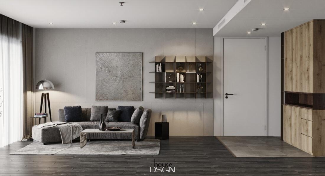 tự thiết kế nội thất phòng khách 25m2 - Housedesign