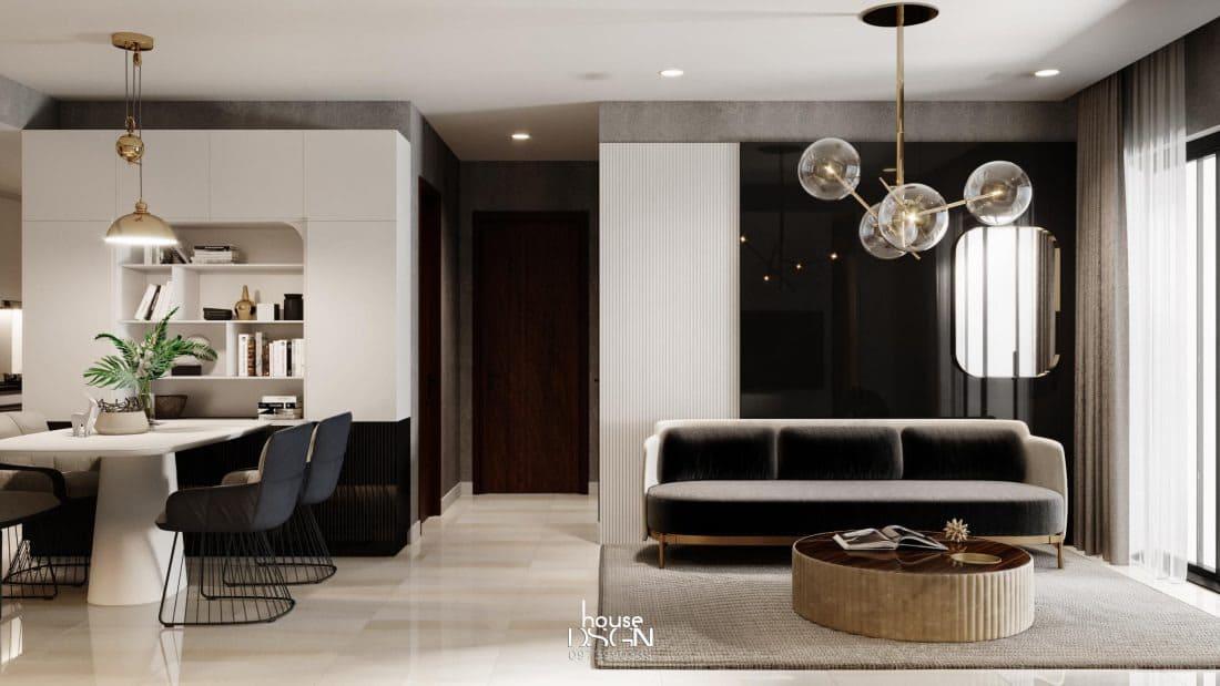 Căn phòng khách chung cư 70m2