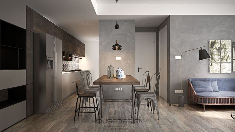 Nhà bếp căn hộ 70m2