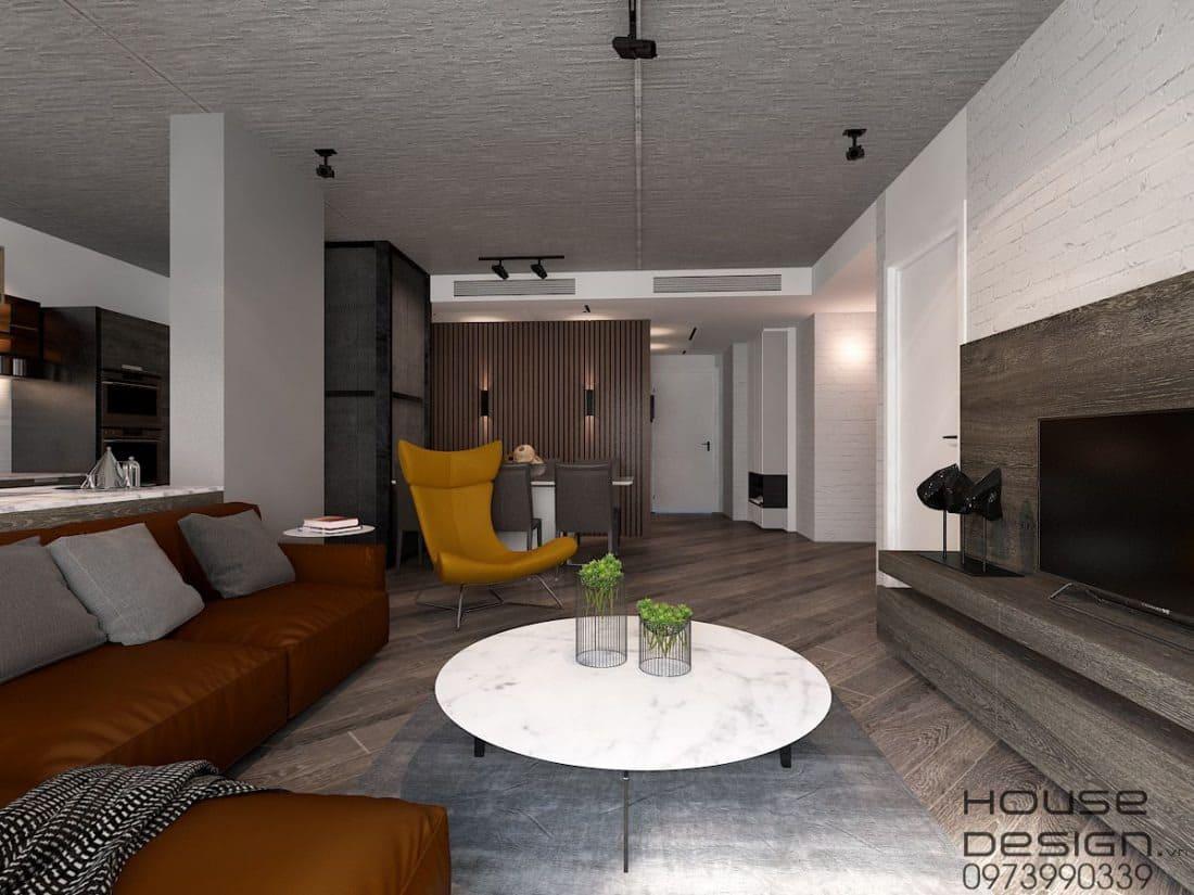 Phối màu nội thất chung cư 70m2