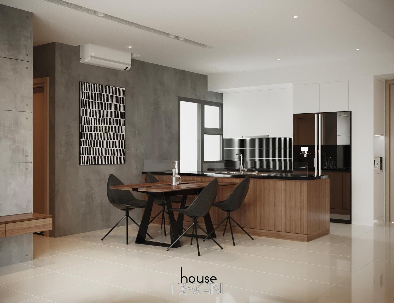 Phòng bếp chung cư 70m2