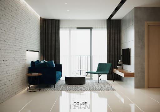 Phòng khách căn hộ 70m2 ấn tượng