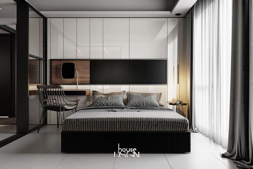 Phòng ngủ căn hộ chung cư 70m2