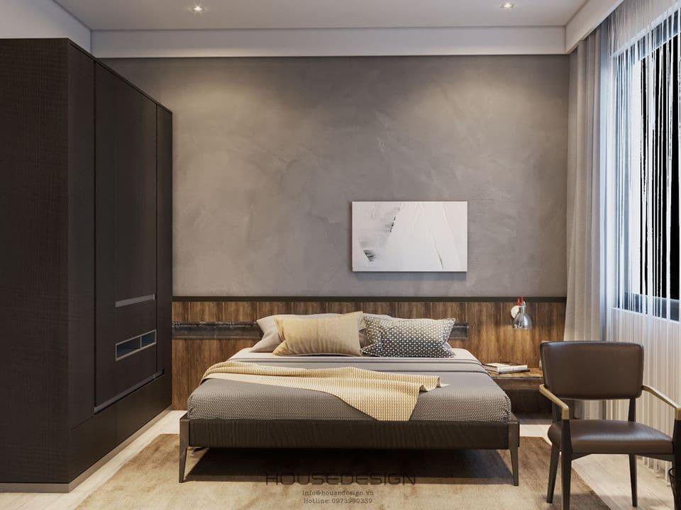 Phòng ngủ chung cư 70m2 thanh lịch