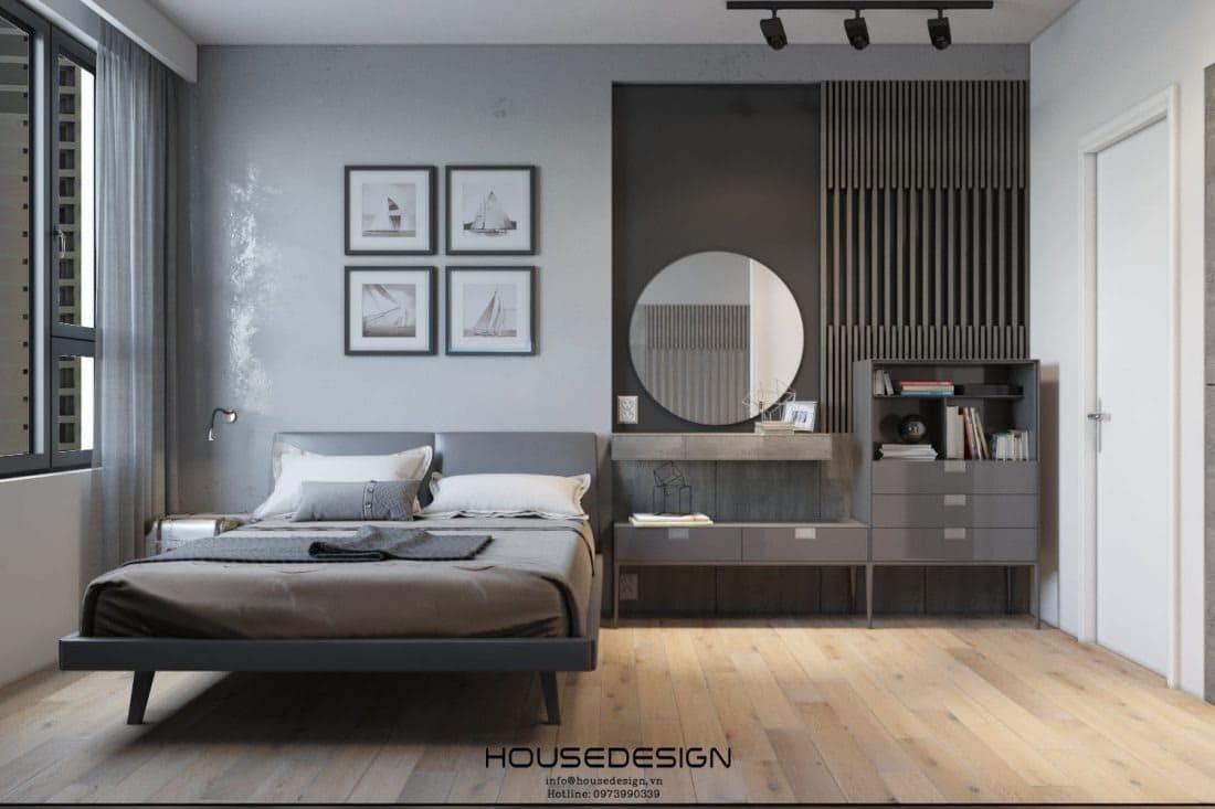 Phòng ngủ master chung cư 70m2
