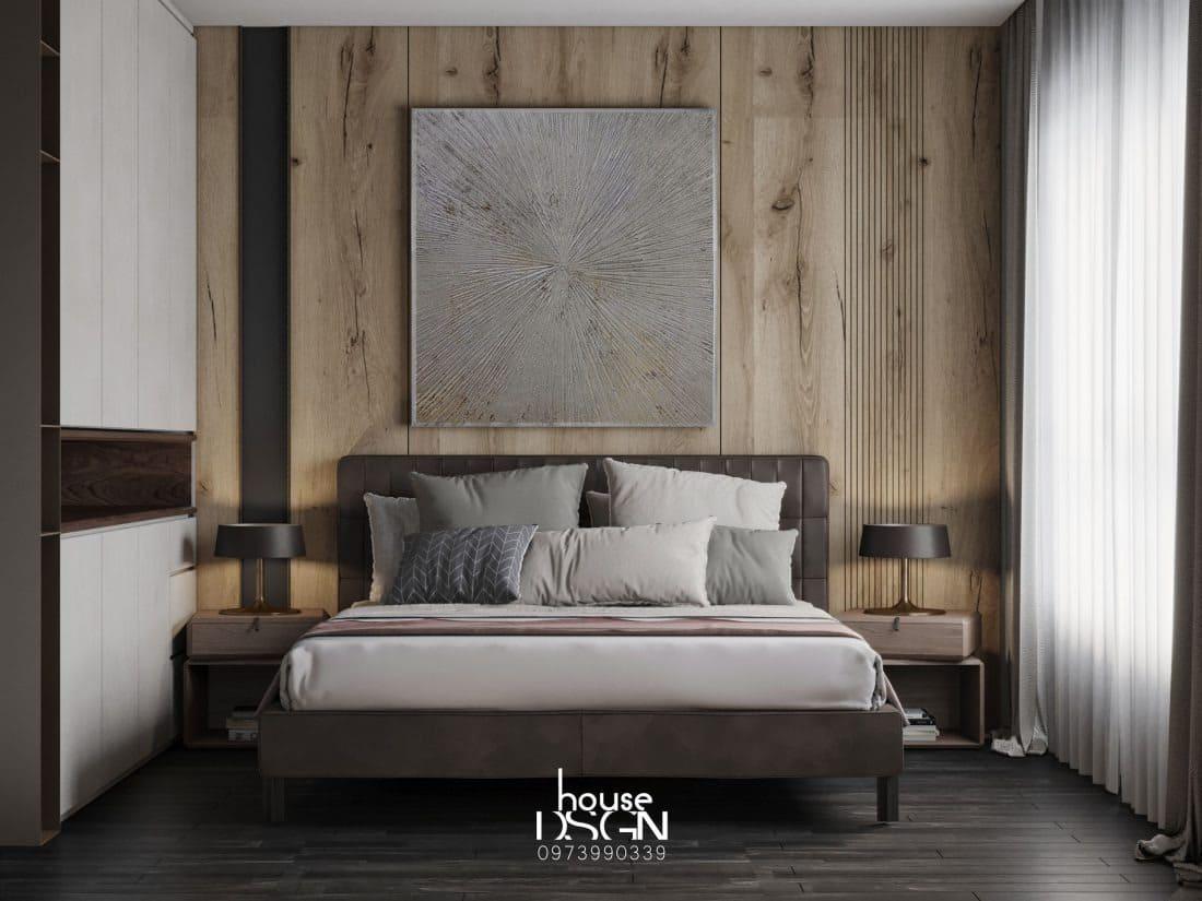 Phòng ngủ nhà 70m2 đẹp