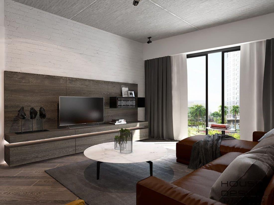Rèm phòng khách căn hộ 70m2