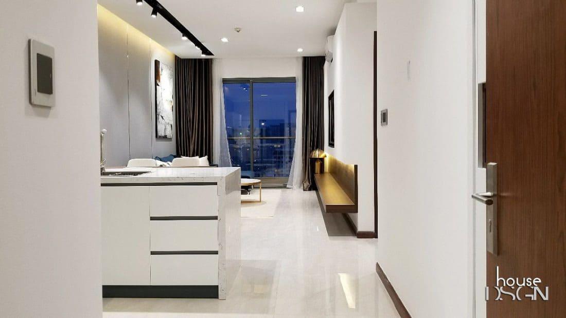 Thiết kế phòng bếp căn hộ đơn giản