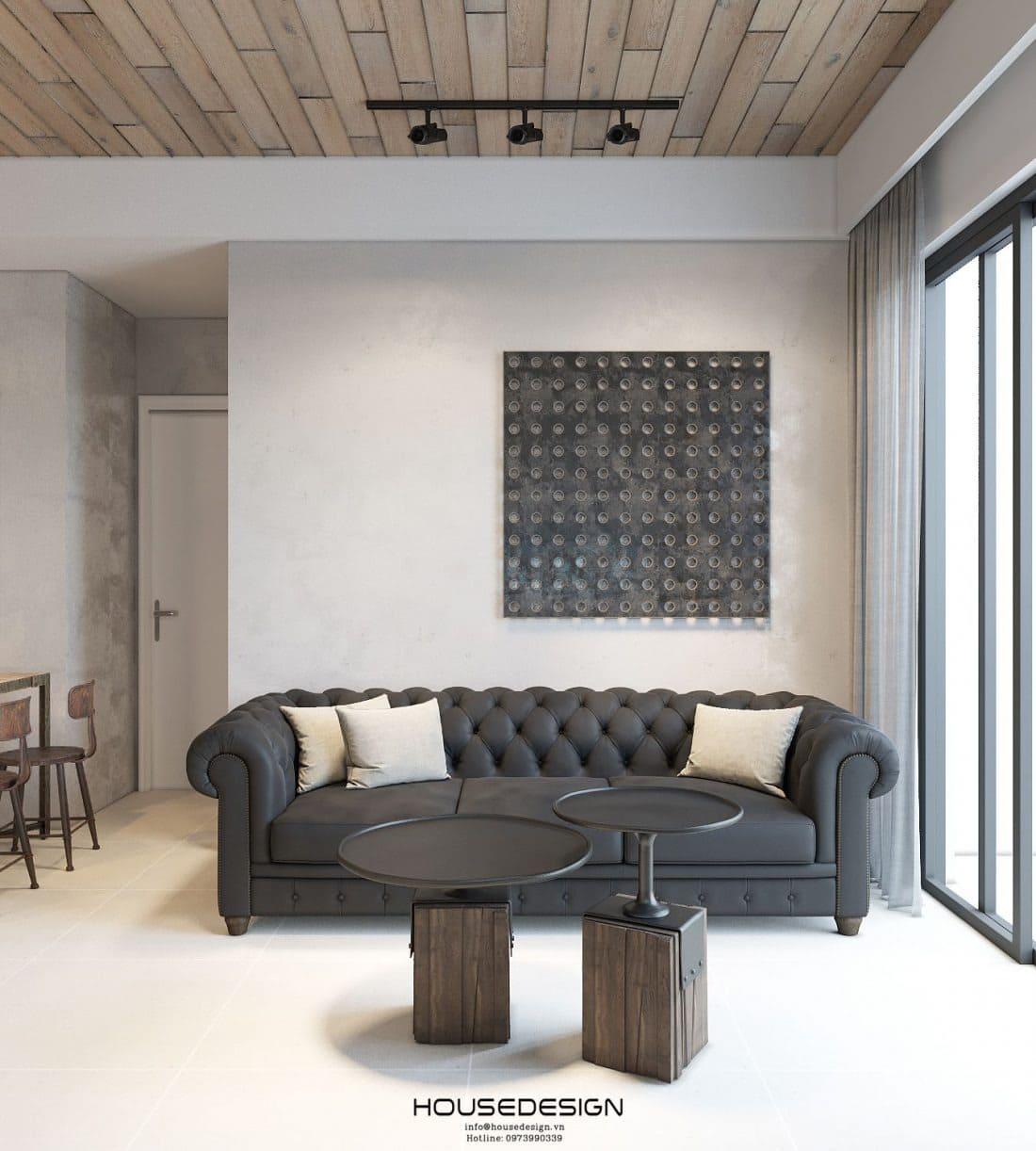 Thiết kế phòng khách căn hộ 70m2