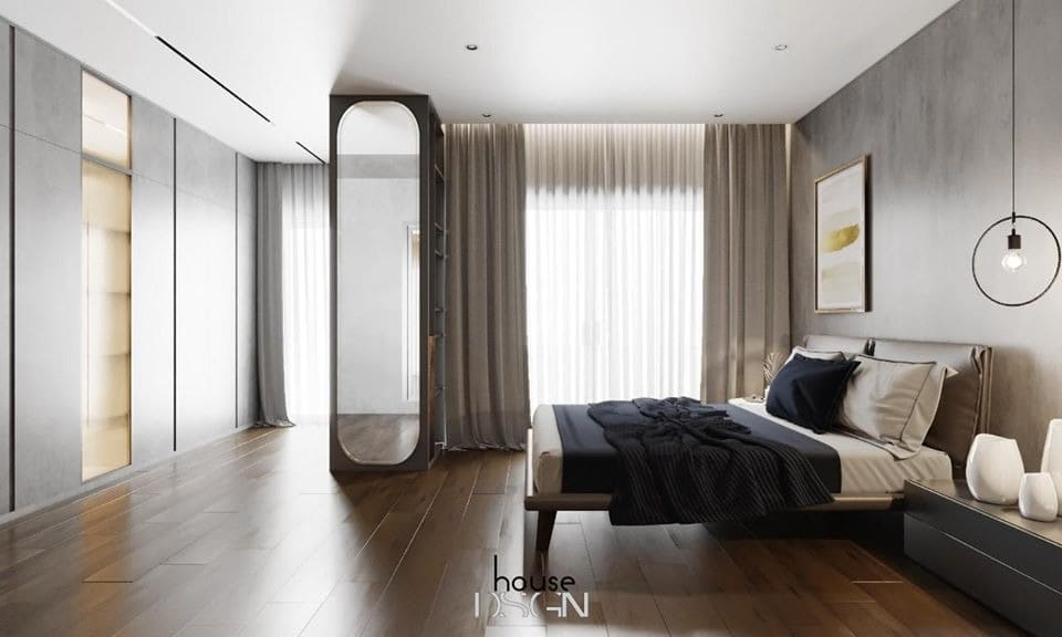 thiết kế phòng ngủ với gương