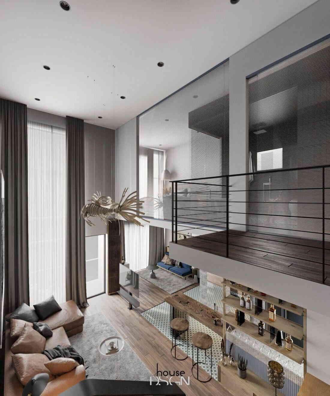 mẫu căn hộ chung cư 2 phòng ngủ đơn giản nhưng sang trọng