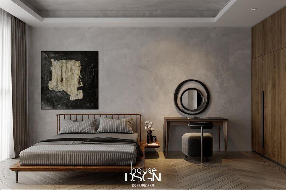 mẫu thiết kế nội thất căn hộ 2 phòng ngủ với nội thất đơn giản