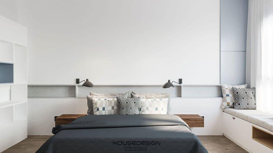 mẫu thiết kế nội thất căn hộ hai phòng ngủ