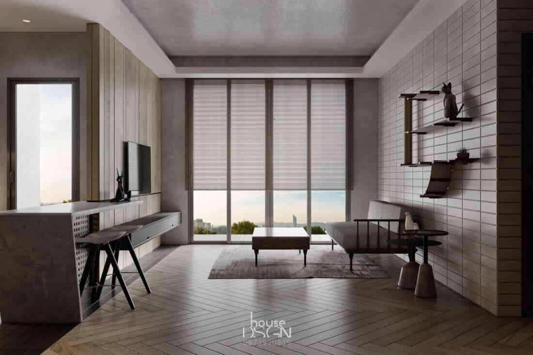 nội thất căn hộ chung cư 90m2 đẹp