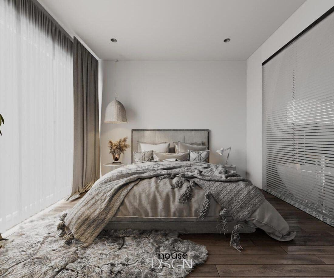 các mẫu thiết kế căn hộ chung cư 2 phòng ngủ đơn giản