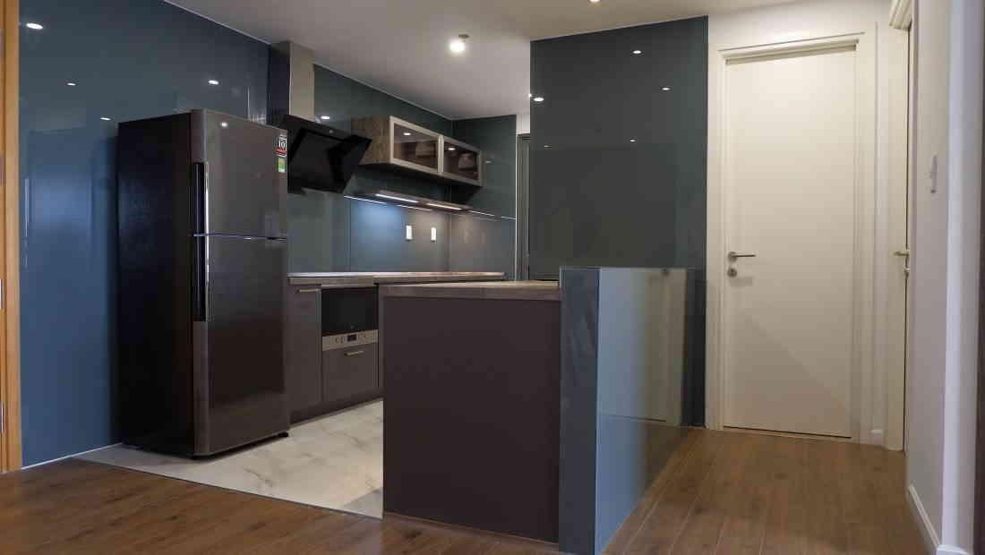khu vực bếp nhỏ với thiết kế sang trọng