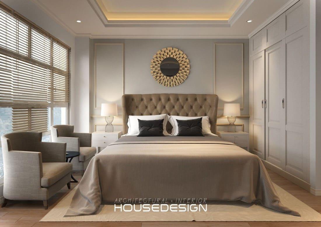 nội thất chung cư hai phòng ngủ sang tro