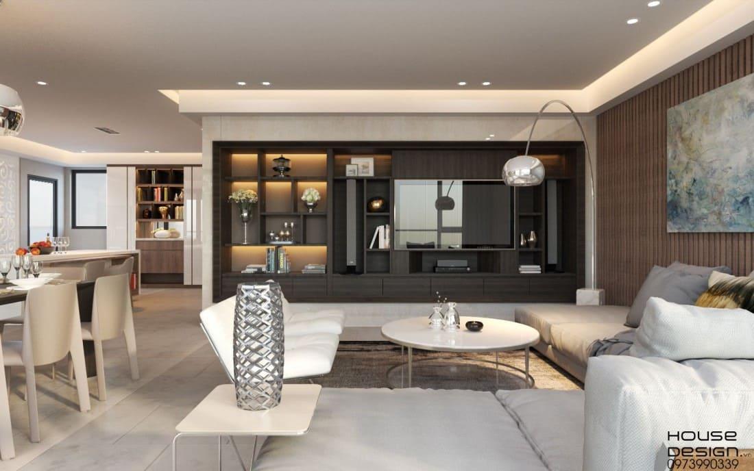 phòng khách với thiết kế ấn tượng