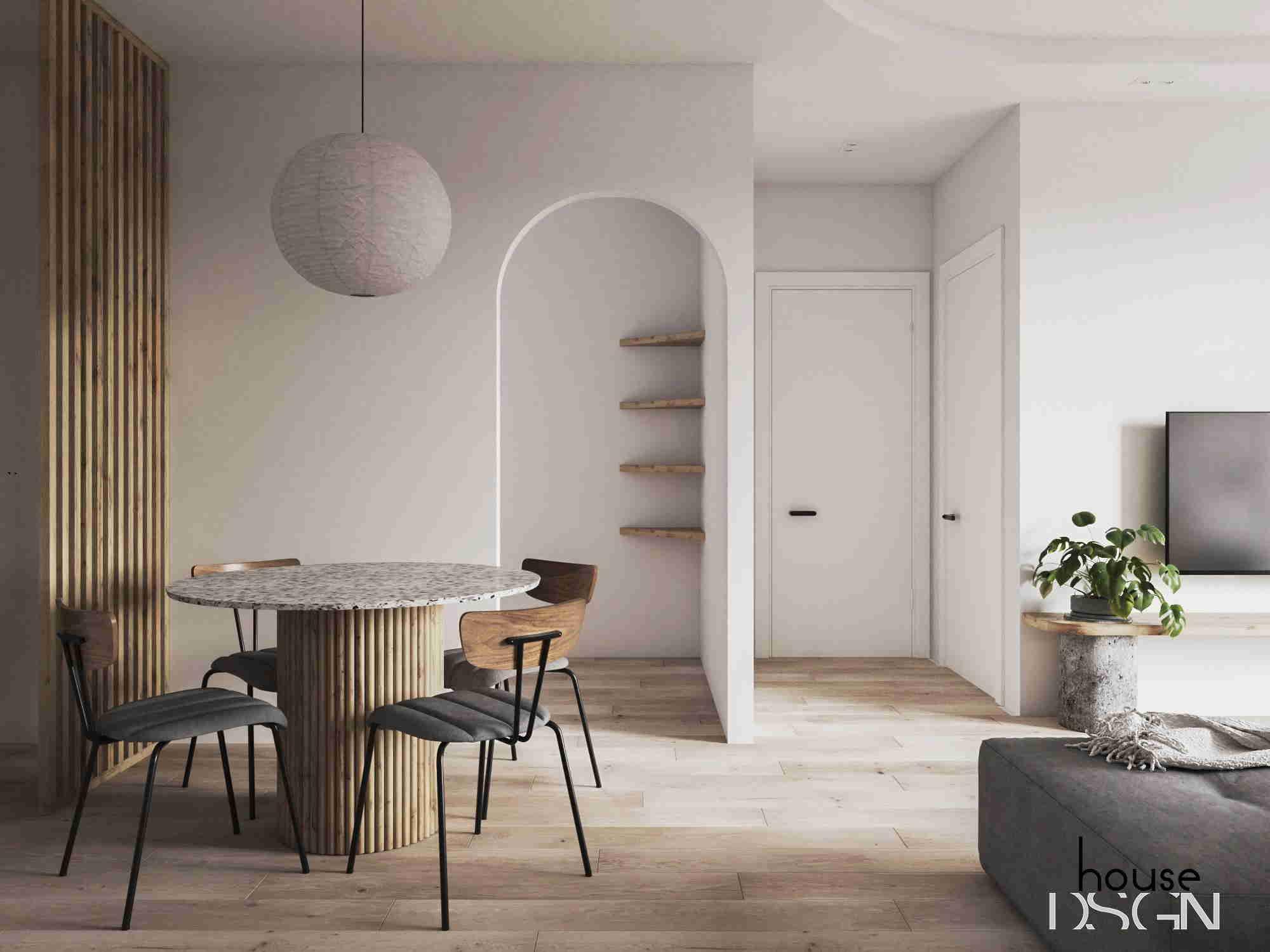 thiết kế nội thất cho căn hộ chung cư 45m2 đẹp
