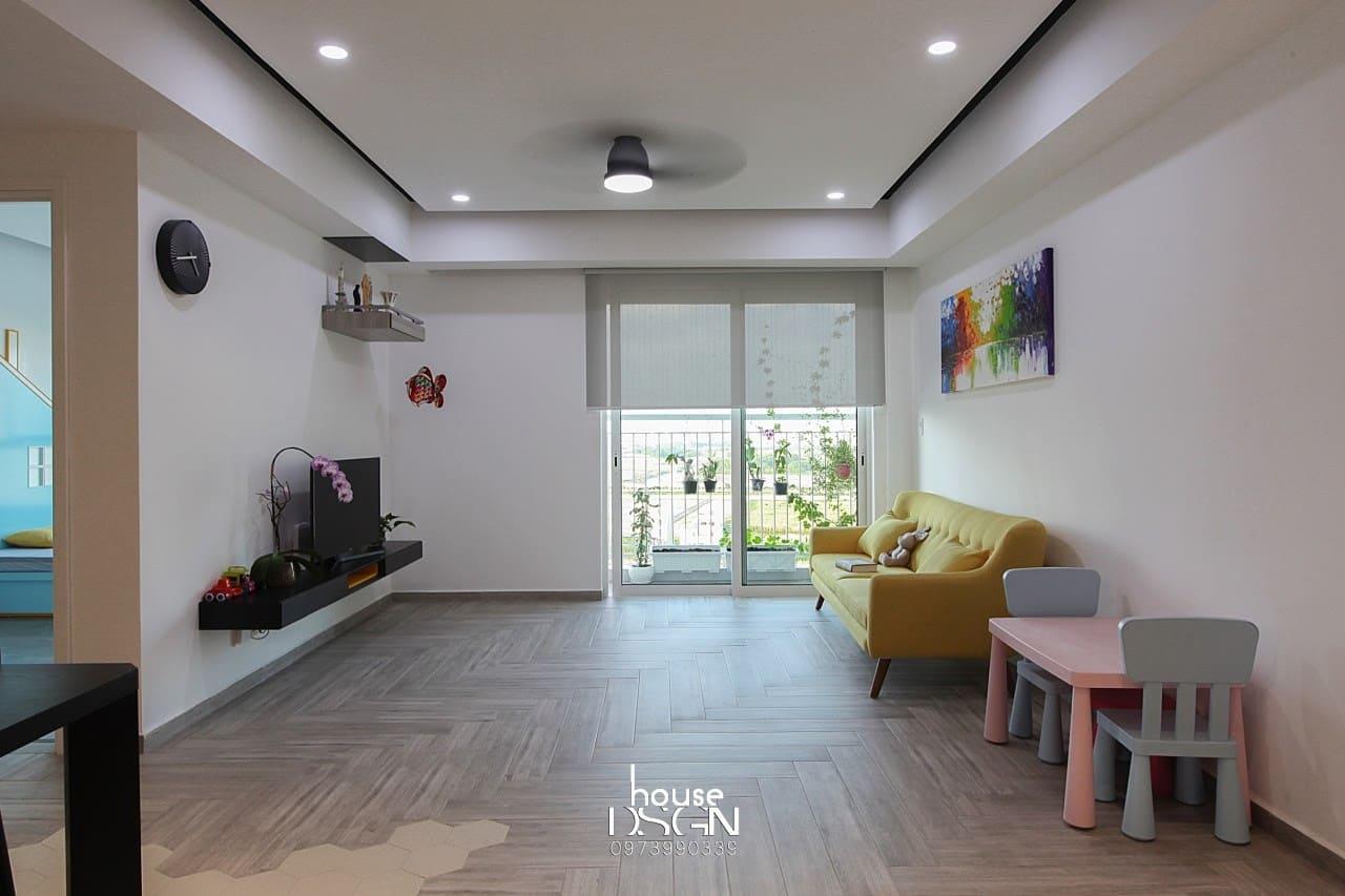 thiết kế nội thất chung cư 2 phòng ngủ đẹp