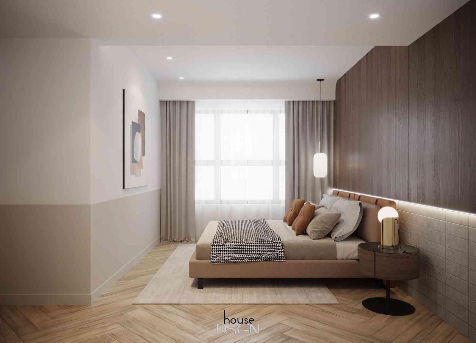 nội thất phòng ngủ với thiết kế sáng màu