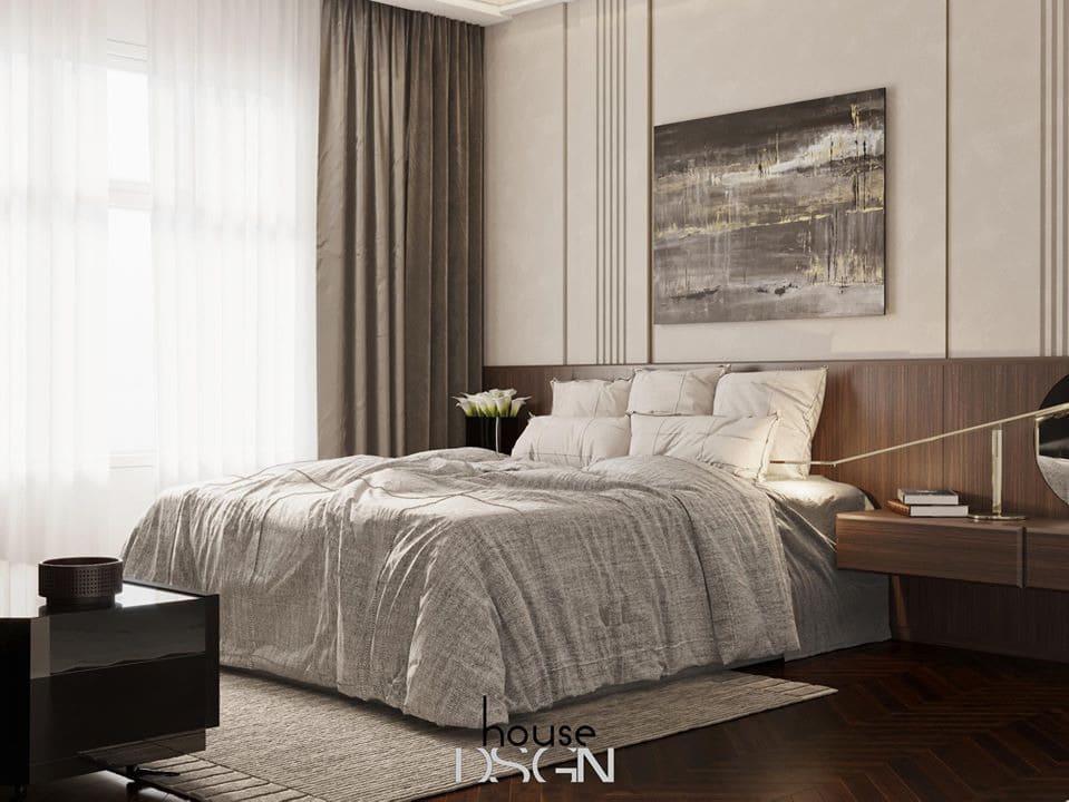 nội thất phòng ngủ trong thiết kế căn hộ 2 phòng ngủ