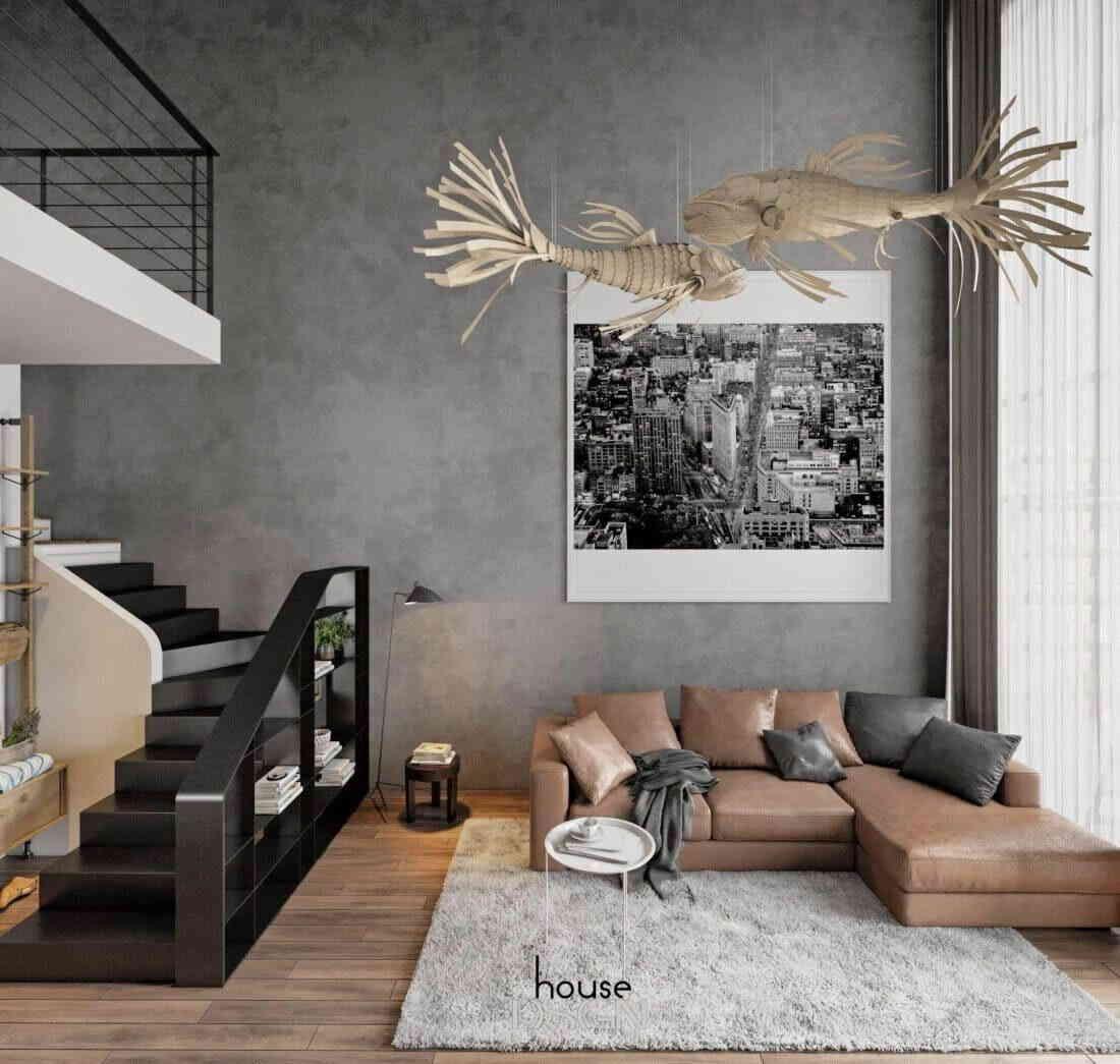thiết kế nội thất căn hộ 2 phòng ngủ sang trọng