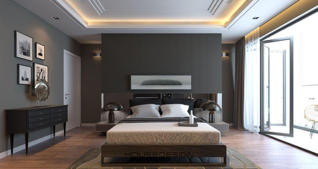 thiết kế phòng nối liền ban công trong căn hộ 2 phòng ngủ