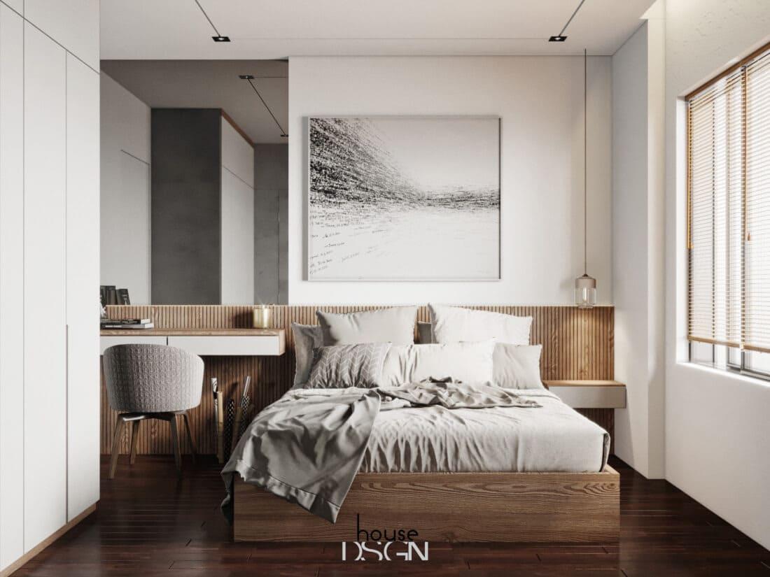 nội thất thiết kế chung cư 2 phòng ngủ đơn giản