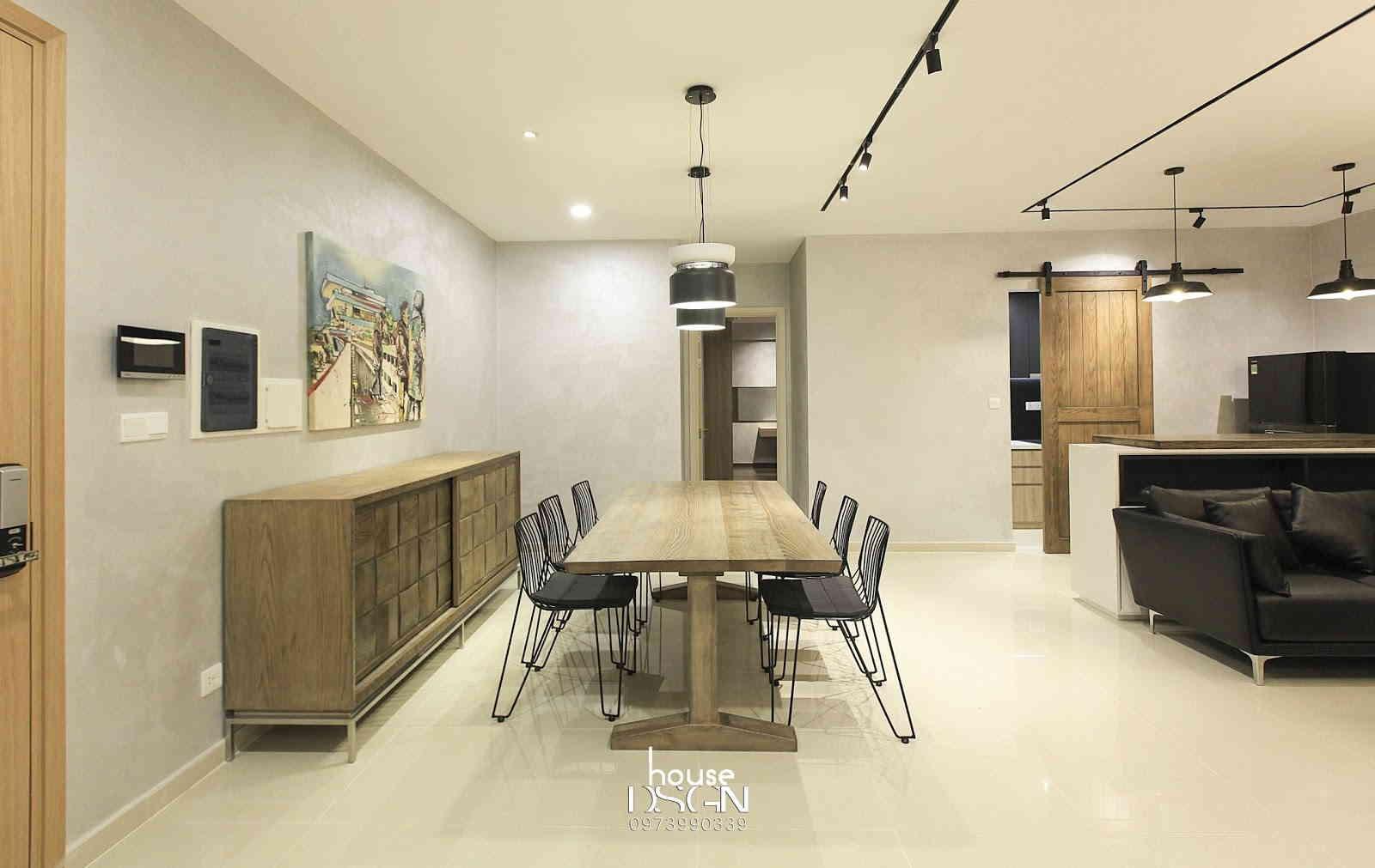 khu vực phòng khách được thiết kế mở