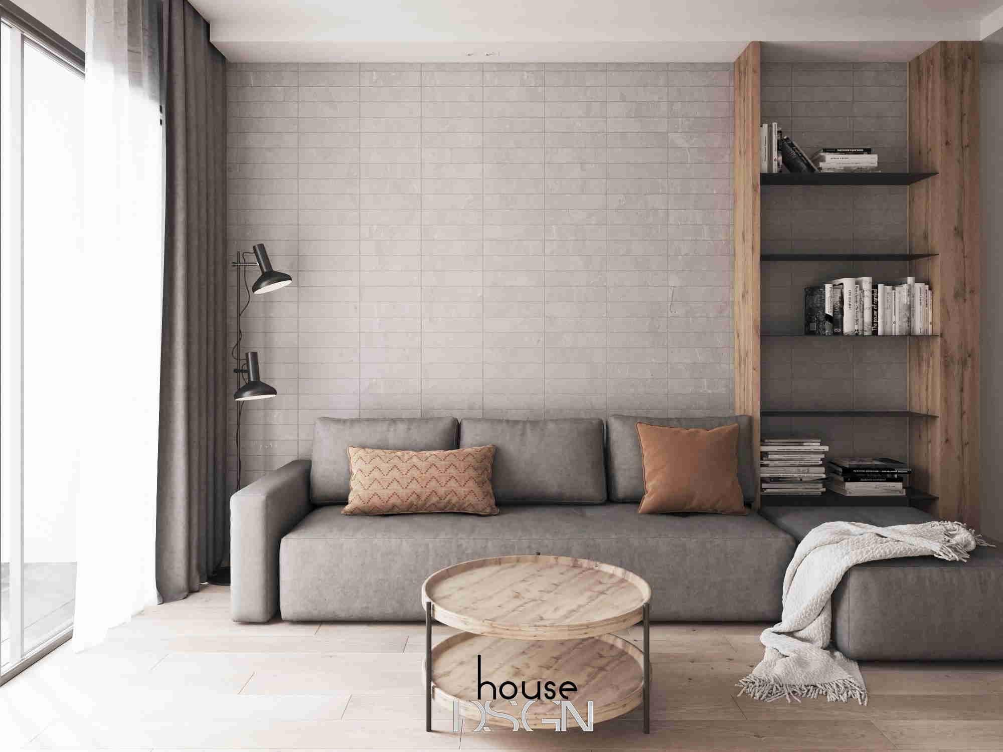 nội thất phòng khách cho căn hộ 45m2