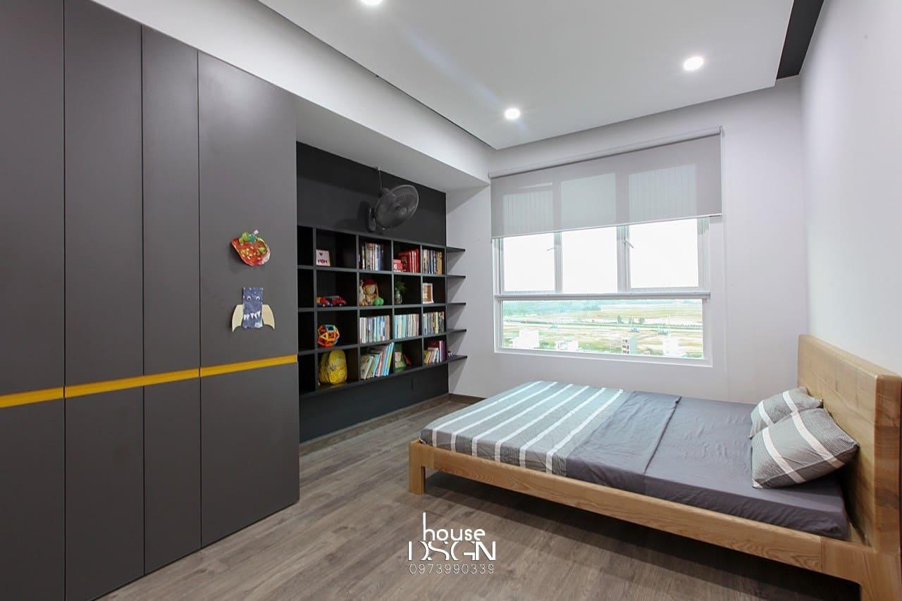 phòng ngủ master căn hộ chung cư 2 phòng ngủ