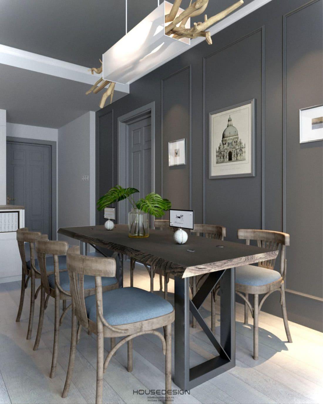 thiết kế nội thất chung cư 2 phòng ngủ hiện đại, sang trọng