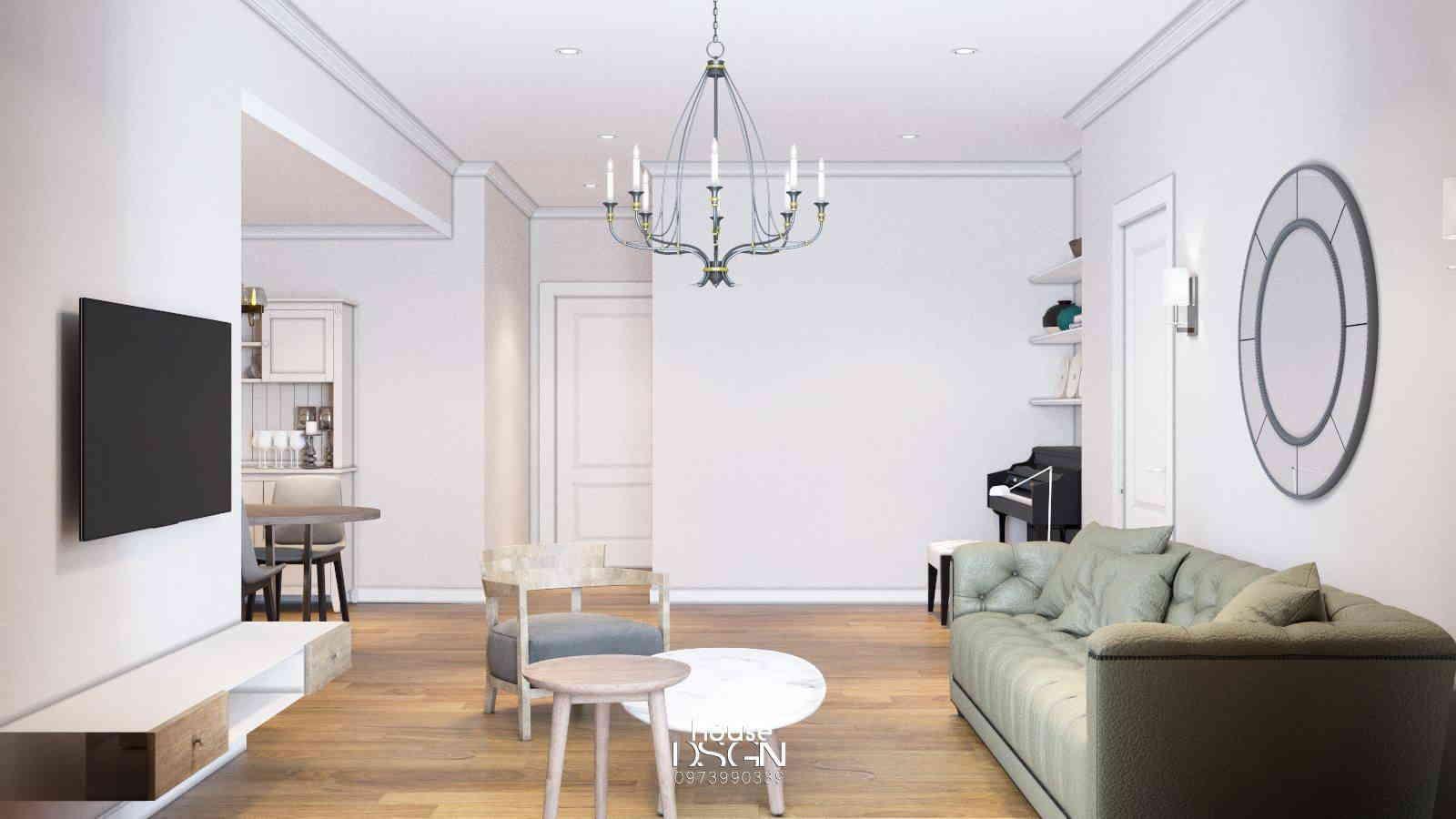 thiết kế nội thất sáng màu