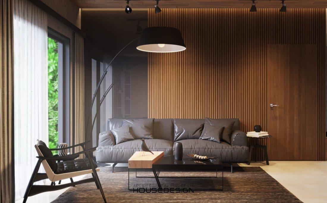 phòng khách với thiết kế cổ điển