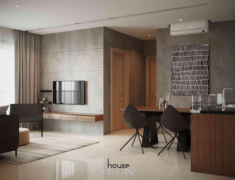 nội thất chung cư 2 phòng ngủ với thiết kế đơn giản