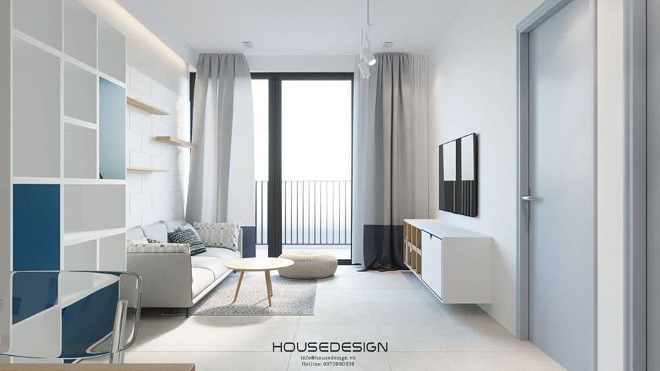 thiết kế nội thất với gam màu tươi sáng