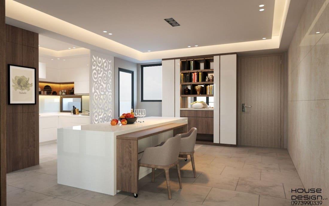 thiết kế phòng khách thiết kế với phong cách hiện đại