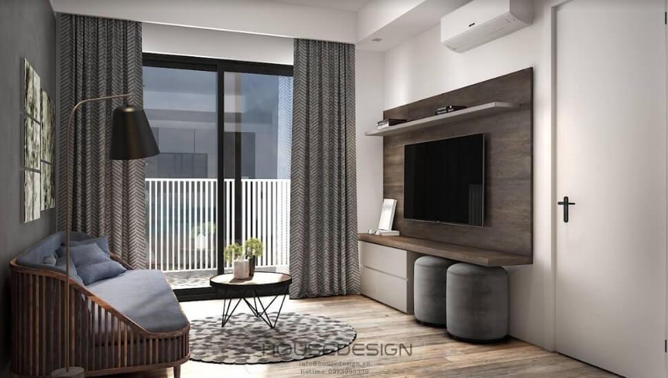 thiết kế nội thất chung cư căn hộ 52m2 hiện đại