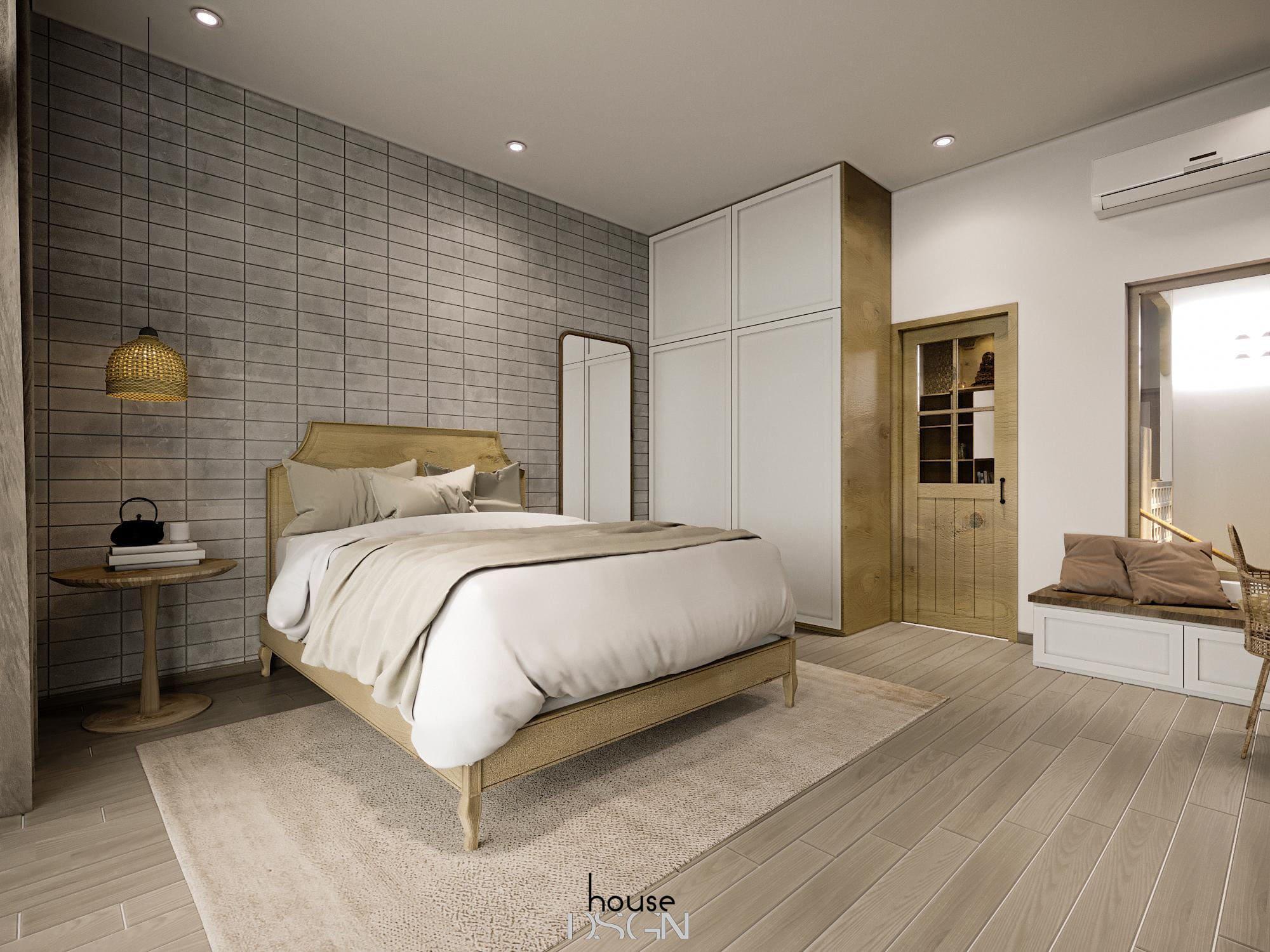 thiết kế nội thất nhà phố cho phòng ngủ đẹp