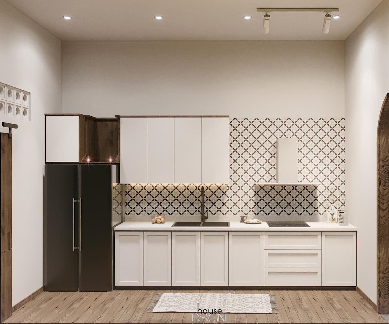 mẫu thiết kế nội thất nhà phố phòng bếp